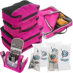 SAY GOOD BYE TO ALL YOUR TRAVEL WOES! With Bago Travel Packing Cubes Value Set For Travel You Are Ready To Neatly Pack, Be Organized And Find Any Item in a Jiffy Sort And Find Your Things In A Flash.
