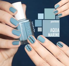 Pantone color Spring 2015 Nailpolish Aquamarine