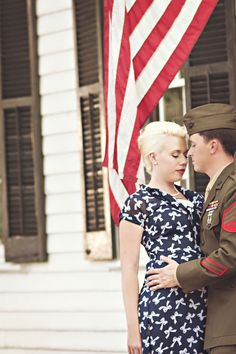 vintage military engagement pictures inspiration 1950s (20)