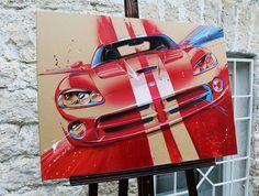 Dodge Viper artwork on Behance