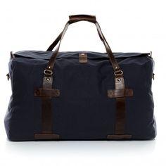 Scotch & Vain Reisetasche CHASE - Leder Weekender blau-braun Taschen Herren Sporttaschen