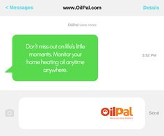 OilPal Monitor Oil Heating Anywhere Heating Oil, Innovation, How To Get, Messages, In This Moment, App, Technology, Life, Tech