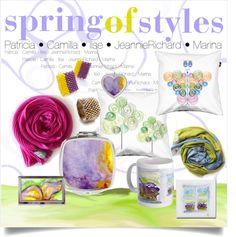 """spring of styles!"" by marina-kanavaki on Polyvore"