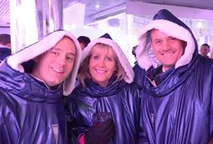 Dan, Carna & Paul at the Ice Bar.  Sarum Christmas party 2014/15