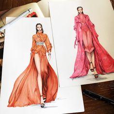 "5,297 Likes, 35 Comments - Eris Tran (@eris_tran) on Instagram: ""Sketch for my customer!!! ❤️❤️❤️ #sketch #sketching #drawing #draw #fashion #fashionsketching…"""