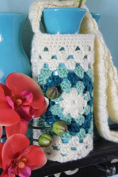 Instant Download  CROCHET PATTERN PDF  Water Bottle Holder