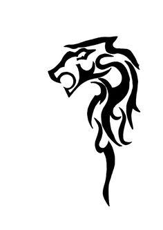 lion tribal tattoo by Bozhenka.deviantart.com on @deviantART