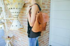 LANNY PLEASE!!! Brown Leather Backpack | The Magnolia Market - $168 Joanna Gaines Fixer Upper