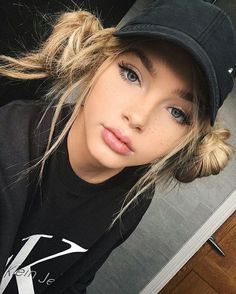 Never a bad hair day, with a baseball cap & this cutehairstyle peeking out@