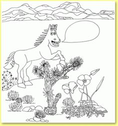 Fun coloring page for kids #SaveAmericasMustangs