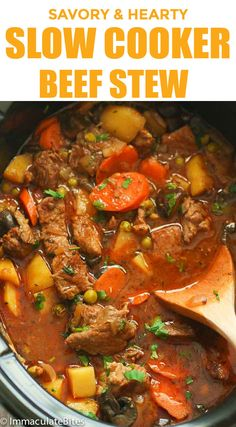 All Day Beef Stew used to be a very slow cook meal that required constant attention. Since the introduction of the crock pot, it has become a meal that you… Whole 30 Beef Stew, Beef Stew Meat, Beef Goulash, Crock Pot Slow Cooker, Slow Cooker Recipes, Crockpot Recipes, Cooking Recipes, Slow Cooking, Yummy Recipes