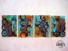 ATCs Atc Cards, Artist Trading Cards, Mail Art, Mixed Media Art, Stamp, Make It Yourself, Artwork, Pattern, Painting