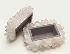 DIY crushed quartz & crystal box.