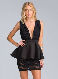 You're an ace of lace, so we don't think you'll have any problem pulling off this chic lace peplum dress.