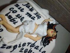tort z kobieta