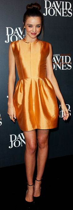 Who made  Miranda Kerr's dress that she wore  in Sydney on February 6, 2013?