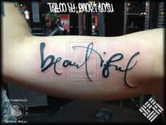 Beautiful Script Tattoo By Enoki Soju by enokisoju.deviantart.com on @deviantART