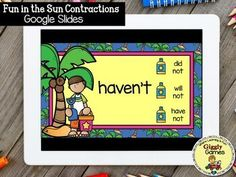 This interactive internet resource makes a fun and educational way to learn or review contractions. The game is entertaining, encouraging, and self-checking.Make sure to check out the video preview above to see the game in action!!!***Your download will include a PDF file. Click on the link in the f... Contraction Games, File Folder Games, Game Google, English Language Arts, Early Childhood Education, Learning Centers, Google Drive, Special Education