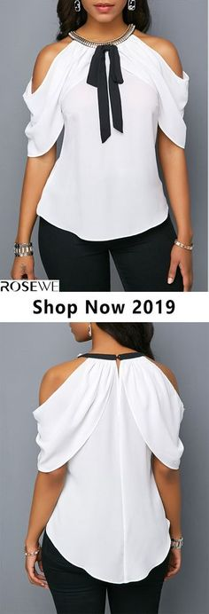 New arrival top, upgrade your wardrobe and try new styles this year Neues Ankunftstop, rüste deinen Mode Outfits, Chic Outfits, Fashion Outfits, Womens Fashion, Fashion Trends, Vetements Shoes, Vetement Fashion, Beautiful Blouses, African Fashion Dresses
