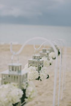 Beach wedding ceremony decor #weddings #weddingdecor #ceremony #beachwedding #weddingstyle
