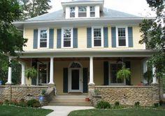 Front Porch Love Yellow House Exteriorexterior Colorterior