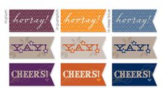 Wedding Cheer Flags http://www.ellinee.com/blog/wp-content/uploads/2011/08/PlumCheerFlags.pdf?cda6c1