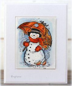Rapport från ett skrivbord: Snowman with Umbrella