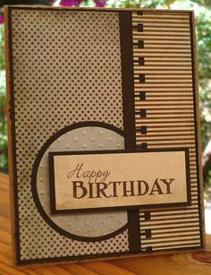 Oh! I have this punch, never though of using it to make a border like that, though - awesome masculine card.