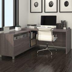 Mercury Row Ariana 2-Piece L-Shape Desk Office Suite & Reviews | Wayfair