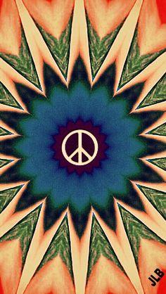 Hippie Love, Happy Hippie, Hippie Vibes, Aesthetic Iphone Wallpaper, Aesthetic Wallpapers, Peace Sign Art, Peace Signs, Arte Hippy, Hippie Wallpaper
