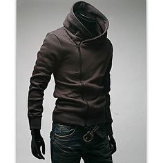 New Fashion Mens Jacket Outdoor Cotton Sweatshirt Hoodies Fleece Jackets Men Outerwear Warm Tops - USD $ 17.59