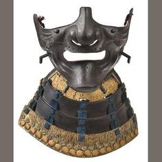 Bonhams 1793 : An iron Reisei menpo (face mask) Edo period, late 18th century
