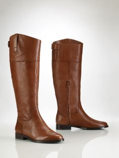 Want these boots - but in dark brown!  I seriously <3 Ralph Lauren riding boots.  They are THE best.