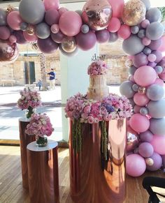 Balloon Decorations Balloon Decor Wedding Balloon Balloon Ideas Balloon Arch - New Deko Sites Balloon Garland, Balloon Arch, Balloon Decorations, Birthday Decorations, Baby Shower Decorations, Wedding Decorations, Balloon Ideas, Decor Wedding, Balloon Flowers