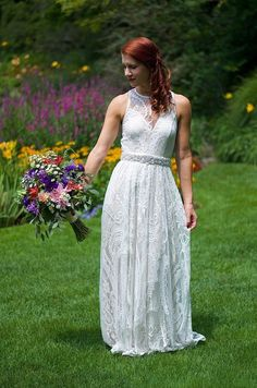 #marriedinmodcloth #lace #whitedress #maxi #boho