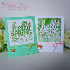 Gloria's craft room: Hello Spring!