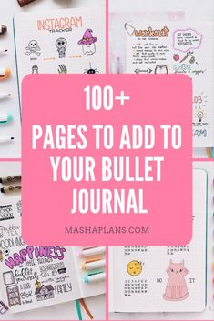 Starting on a Bullet Journal and not sure what pages to add? Check this guide with 100 creative ideas to add to your planner to help you organize every area of your life. Digital Bullet Journal, Bullet Journal For Beginners, Bullet Journal How To Start A, Bullet Journal Junkies, Bullet Journal Notebook, Bullet Journal Inspiration, Bullet Journals, Art Journals, Bullet Journal Layout Templates