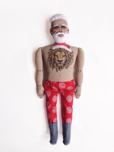 Santa Claus Doll with Lion