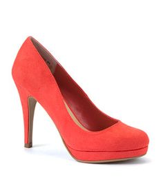 Coral (Orange) Coral Suedette Court Shoes | 275821983 | New Look