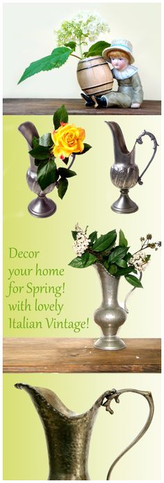 Don't miss a nice opportunity to renew your home for spring with awesome Italian Vintage!