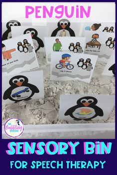 Find out more about how to make your own penguin sensory bin for your speech caseload. Penguin activities and sensory bin ideas to target speech and language goals. Preschool Speech Therapy, Special Needs Students, Special Education Classroom, Language Activities, Sensory Bins, Speech And Language, Therapy Ideas, Giveaways, Classroom Ideas