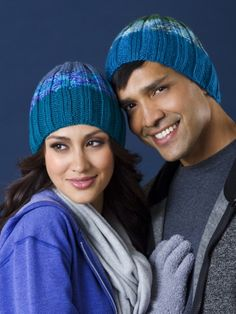 Free Knitting Pattern - Hats: Good Ribbing His & Hers Hats