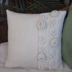 Lovely hand knit throw pillow $38.50