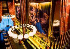 gitane restaurant - Based on the feeling of nomadic gypsy culture, Design Firm Mr. Important created Gitane Restaurant. The Gitane Restaurant design is made up of ple. Restaurant Design, Restaurant Bar, Restaurant Interiors, San Francisco Bars, Gypsy Culture, Orange Curtains, Bar Design Awards, San Francisco Restaurants, Custom Drapes