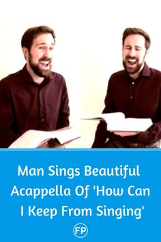 "One man sings all four parts of ""How can i keep from singing."""