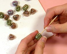 Easy Glitter beads project  from Emma Ralph.  #Polymer #Clay #Tutorials