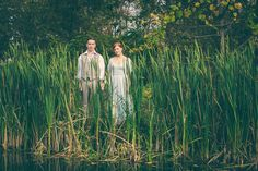 By the pond. The Vintage Whiskey Wedding  // New York Wedding Photographer