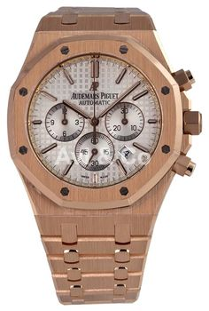 Audemars Piguet Royal Oak 41 Rose Gold Watch Silver Dial 15400OR.OO.1220OR.02. Free shipping and guaranteed authenticity on Audemars Piguet Royal Oak 41 Rose Gold Watch Silver Dial 15400OR.OO.1220OR.0218kt pink gold case with a 18kt pink gold bracelet...