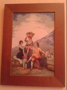 """""""La vendimia de Goya"""" en punto de cruz"""
