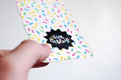 I had a stamp produced of my logo to keep some sort of identity flowing, and I just write my e-mail address & phone number on the back by hand. For these particular cards my influence was ice cream! I had some blank cards that I bought in Muji in Tokyo a few years back, so I drew some sugar strands on them using Posca markers, then stamped them with my logo, so every one is slightly different.